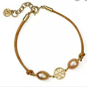 Tory Burch Miller pearl champagne bracelet